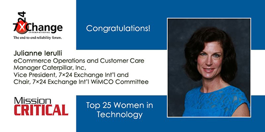 Congratulations to Juli Ierulli on her inclusion into Mission Critical Magazine's Top 25 Women in  Technology List