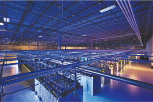 The Google Data Center in Council Bluffs, Iowa, features more than 115,000 square feet of space. (Image provided courtesy of Google)