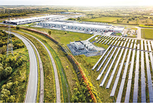 This aerial image shows the solar field at the Google Data Center in St. Ghislain, Belgium. (Image provided courtesy of Google)
